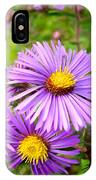 Wild Purple Asters IPhone Case