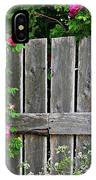 Wild Roses And Weathered Fence IPhone Case