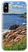 Wild Roses At Lakies Head In Cape Breton Highlands Np-ns IPhone Case