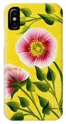 Wild Roses On Yellow IPhone Case
