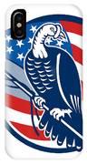 Wild Turkey Perching American Flag IPhone Case
