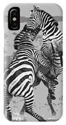 Wild Zebras IPhone Case