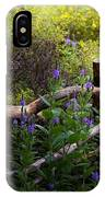 Wildflower Fence  IPhone Case