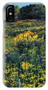 Wildflower Hillside IPhone Case