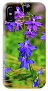 Wildflower Larkspur IPhone Case