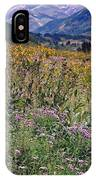 Wildflowers And Mountains  IPhone Case