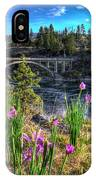 Wildflowers And Old Bridge IPhone Case