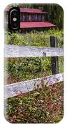 Wildflowers At The Fence IPhone Case