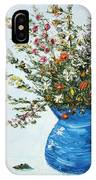 Wildflowers In A Blue Vase IPhone Case