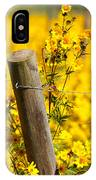 Wildflowers On Fence Post IPhone Case