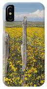 Wildflowers Surround Rustic Barb Wire IPhone Case