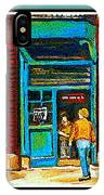 Wilenskys Art Famous Blue Door Posters Prints Cards Originals Commission Montreal Painting Cspandau  IPhone Case