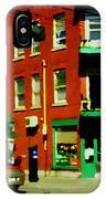 Wilenskys Famous Light Lunch Diner Corner Clark And Fairmount Montreal City Scene Carole Spandau IPhone Case