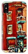 Wilenskys Hockey Art Paintings Originals Commissions Prints Montreal Deps Street Art Carole Spandau  IPhone Case