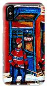 Wilenskys Hockey Art Posters Prints Cards Originals Commission Montreal Paintings Contact C Spandau IPhone Case