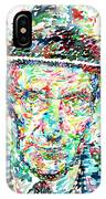 William Burroughs Watercolor Portrait IPhone Case