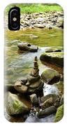 Williams River Headwaters Zen Rocks IPhone Case