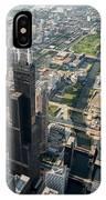 Willis Tower Southwest Chicago Aloft IPhone Case