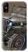 Willys Car Drawing IPhone Case