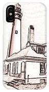 Wind Point Lighthouse Drawing Mode 1 IPhone Case