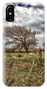 Wind Swept Kansas Tree IPhone Case