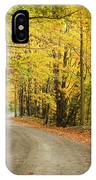 Winding Rural Road With Fall Colors IPhone Case