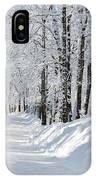 Winding Snowy Road In Winter IPhone Case