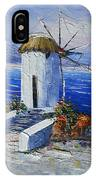 Windmill In Greece IPhone X Case