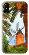 Windmill In Palma De Mallorca IPhone Case