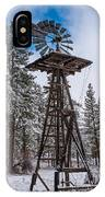 Windmill In The Snow IPhone Case