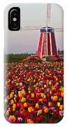 Windmill Of Flowers IPhone Case