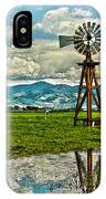 Windmill On The Hills IPhone Case