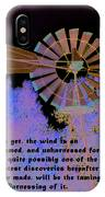 Windmill With Lincoln Quote IPhone Case