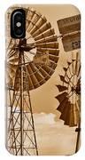 Windmills In Sepia IPhone Case