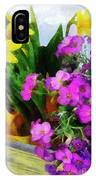 Window Box On A Windy Day IPhone Case