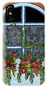 Window Flower Box On A Stucco Wall IPhone Case