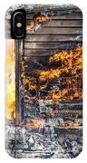 Window Thru The Depth Of Firey Fury IPhone Case