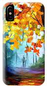 Window To The Fall - Palette Knife Oil Painting On Canvas By Leonid Afremov IPhone Case
