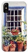 Window With Blue Trim IPhone Case