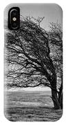 Windswept Tree On Knapp Hill IPhone Case by Paul Gulliver