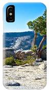 Windswept Tree On Top Of Sentinel Dome In Yosemite Np-ca IPhone Case