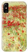 Windy Poppies At The Fields IPhone Case