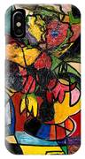Wine And Flowers For Two IPhone Case