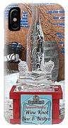Wine Bottle Ice Sculpture IPhone Case