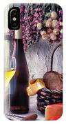 Wine Bottle With Glass In Window IPhone Case