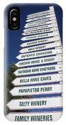 Wine Country Signs IPhone Case