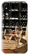 Wine Glasses And Barrels IPhone Case