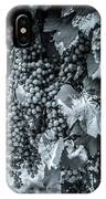 Wine Grapes Bw IPhone Case