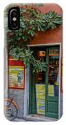 Wine Shop Monterosso Italy Dsc02584  IPhone Case