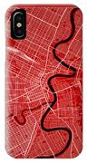 Winnipeg Street Map - Winnipeg Canada Road Map Art On Color IPhone Case